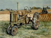 A Deere One Replaced - Watercolor Paintings - By Matthew Thornburg, Landscape Painting Artist