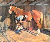 The Farrier - Acrylics Paintings - By Matthew Thornburg, Western Painting Artist