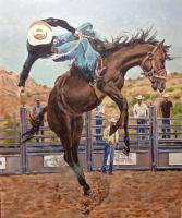 Tooke Ranch Bronco - Acrylics Paintings - By Matthew Thornburg, Realism Painting Artist