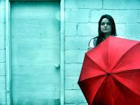 The Red Umbrella - Digital Photography - By Christina Burchett, Portrait Photography Artist