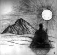 Meditating With Errigal Mountain - Etching Printmaking - By Aoife Valley, Realism Printmaking Artist