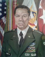 Portraits - A Young Colin Powell - Oil On Canvas