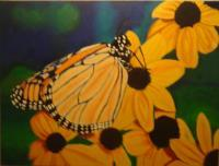 Nature - Butterfly - Oil On Canvas